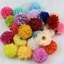 15Pcs Artificial Flower Heads Colorful Carnation Flower Silk Mini Hydrangea Head