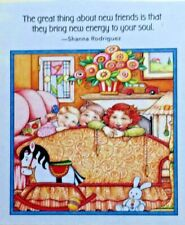 Mary Engelbreit Handmade Magnet-The Great Thing About New Friends