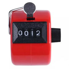 Mini Color Digital Hand Held Tally Clicker Counter 4 Digit Number Pedometer RED