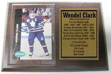 Toronto Maple Leafs Wendel Clark Hockey Card Plaque