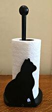 Novelty Wood Cute Cat Design Vertical Kitchen Roll Holder Rack Stand Dispenser