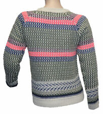 Only Fashion Pullover Sweater Strick mit Wolle mehrfarbig Gr. M