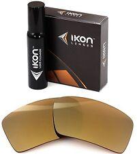 Polarized IKON Iridium Replacement Lenses For Oakley Eyepatch 2 24K Gold Mirror