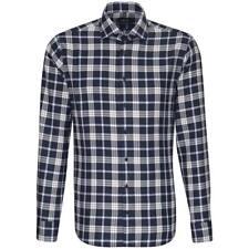 Seidensticker Herren Langarm Business Hemd Tailored Kent blau Kariert 232257.17