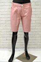 Bermuda YELL Uomo Taglia 34 Pantalone Jeans Pants Man Shorts Pantaloncino Rosa