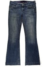 REFUGE Women 7R BOOTCUT Denim Distressed Stretch JEANS Pants WIDE LEG 31 x 30.25