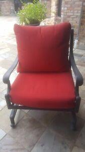 Sunbrella Jockey Red Deep Seat Cushion Set