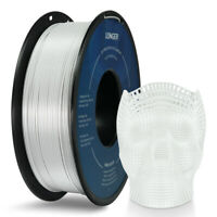 White Longer PLA 3D Printer Filament 1.75mm 1kg 2.2lb for Most FDM 3D Printer