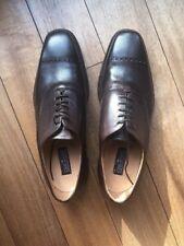 "JOSEPH CHEANEY ""PERRY"" Handmade Chaussures-Marron Foncé-UK 10/EU 44-neuf en boîte"
