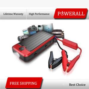 PowerAll Rosso Portable Power Bank & Car Jump Starter Kit w/LED Light PBJS12000R