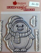 Woodware Clear Magic Chubby Penguin stamp FRS120