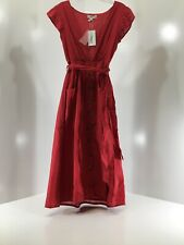 Neon Rose Womens Cool It Down Plunging Neck Buttoned Maxi Dress Red Sz XS NWT @