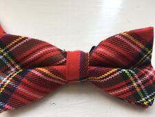 Royal Stuart Mens Tartan Bow Tie/ Red Tartan Wool Bow Tie