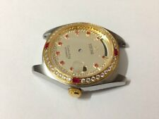 Stunniung TITONI Cosmo King complet Gents Watch Case Set. Golden Dial