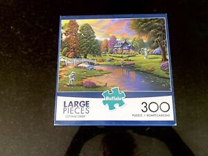 "Buffalo 300 Large Pieces Puzzle- 21"" x 15""- Cottage Creek scene"