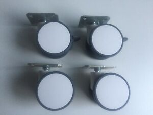 75mm Plate fitting castors, design furniture look, set of 4pcs