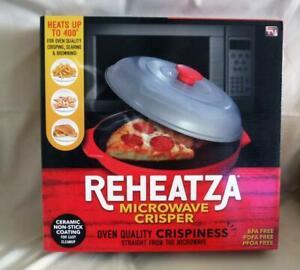As Seen On TV Reheatza Microwave Crisper Cooker Non-Stick Easy Clean Chrispy New