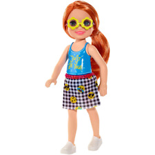 Barbie FXG81 Club Chelsea Doll Redhead with Just be You top