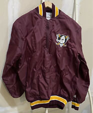 Vtg Anaheim Mighty Ducks Satin Jacket Size Men's Small by DeLong