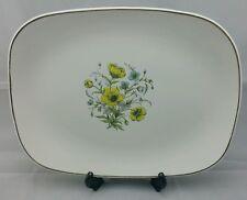 J & G MEAKIN ~STUDIO ~  Platter Meat Plate Floral Pattern 32cm long