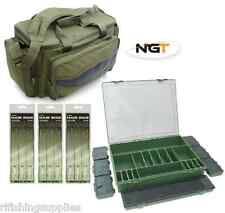 Pesca carpa CARRYALL BAG + LARGE 7 +1 Tackle Box + 18 X CAPELLI FERRETTINI + Rig Board