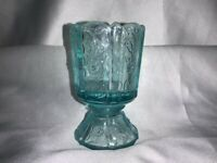 Fenton Art Glass Paneled Daisy Footed Toothpick Candle Holder