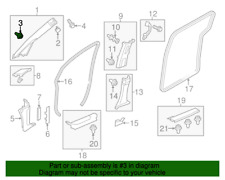 ( 1 ) GENUINE HONDA/ACURA 91560-SYA-J01 CLIP - Pillar Garnish (Dark Green)