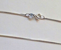 """Sterling Silver Box Necklace Chain NOT SILVER PLATED 55cm 22"""" GENUINE Solid 925"""