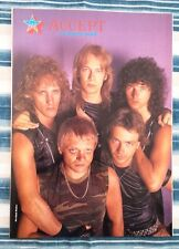 ACCEPT 'Udo and the boys' magazine PHOTO/Poster/clipping 11x8 inches