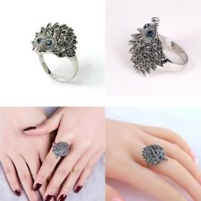 Vintage Animal Design Punk Wedding Party Hedgehog Rings Jewelry Silver Plated