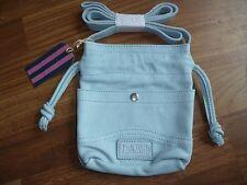 Jack Wills Stillington Leather Bag, Sky Blue
