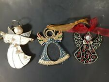 3 Angel Christmas  ornaments