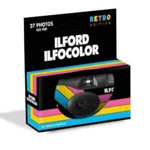 *NEW* Ilford Ilfocolor disposable Retro Edition camera - 27 exposures *FREE POST