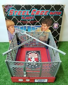 1985 AWA Remco All Star Wrestling Steel Cage Ring COMPLETE w/ Box - VERY RARE