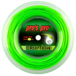 Pro's Pro Eruption - Tennis Racket String - Neon-Green - 200m Reel - Hexagonal