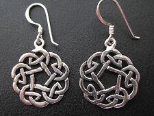 Keltischer Knoten 925'er Silber Ohrringe Ohrhänger Paar      / OR 701