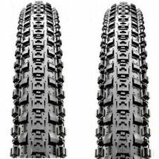 "1 PAIR Maxxis Crossmark MTB Tyres 26 x 2.10"" Black Mountain Bike Tires Durable"