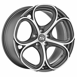 ALLOY WHEEL MSW 82 AUDI A8 9x20 5x112 ET 25 MATT GUN METAL FULL POLISHED (MG 8e7