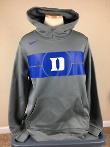 Nike Dri Fit Duke Blue Devils Gray Pullover Hoodie Sweatshirt Men's Size XL