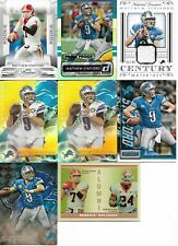 Lot of 7 different Matthew Stafford cards - 2009-2015 - 8 cards total - ROOKIE