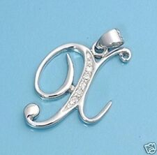 Letter X Initial Pendant Sterling Silver 925 Best Price Alphabet Jewelry Gift
