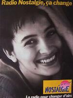 PUBLICITÉ 1993 RADIO NOSTALGIE POUR CHANGER D'AIR -  ADVERTISING