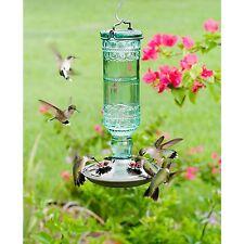 Hummingbird Feeder, Perky Pet 8108-2 Green Antique Glass Bottle 10 Oz.