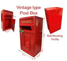 Wall Mounting Cast Iron Post Box Postal Box Red British Mailbox