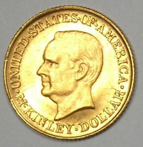 1916 McKinley Commemorative Gold Dollar Coin G$1 - Uncirculated Detail (UNC, MS)