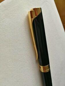 Waterman L'Etalon Black Lacquer Ballpoint Pen, Gold Trim