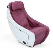 Synca CirC Premium Compact Massage Chair with Heat in Bordeaux Red