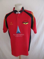 Rare maillot de rugby XIII porté vintage SHEFFIELD N° 16 HAWKS Rouge Taille L