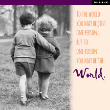 To World You May Just Be One Person Greeting Card Square Milk Range Cards