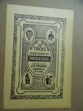 1919 Side Show Tricks Exposed Magic Trick Catalog Brochure J.M. Trudel Van Tone